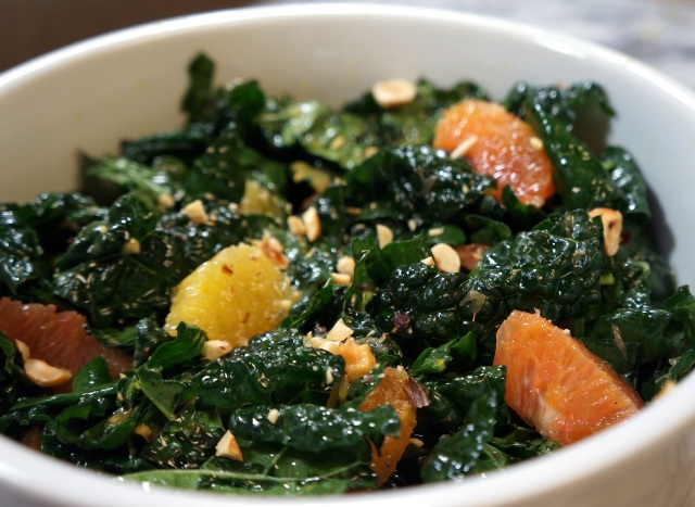 Kale Salad with Citrus and Hazelnuts