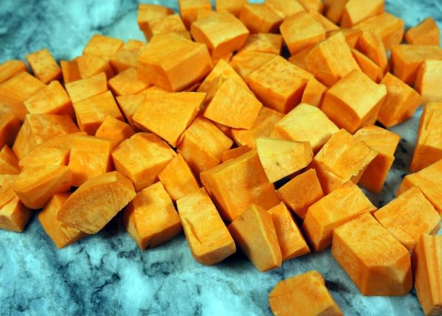 Chopped Sweet Potatos