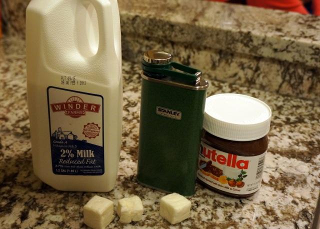 Milk, Frangelico, Nutella