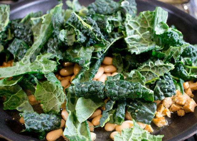 Saute Kale and White Beans