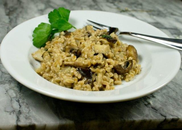Mushroom Farro Risotto