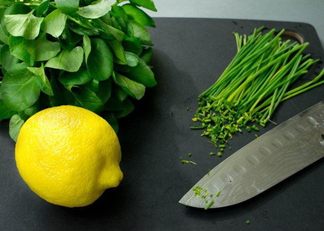 Lemon, Chives, Watercress