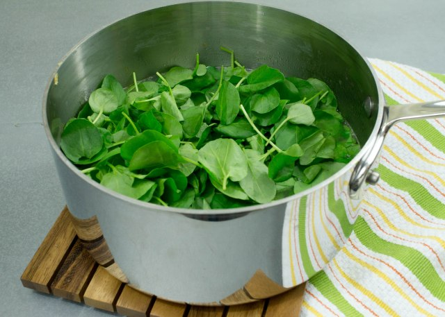 Add watercress to the pot