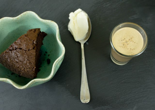 Chocolate Stout Cake + Vanilla Ice Cream + Irish Cream