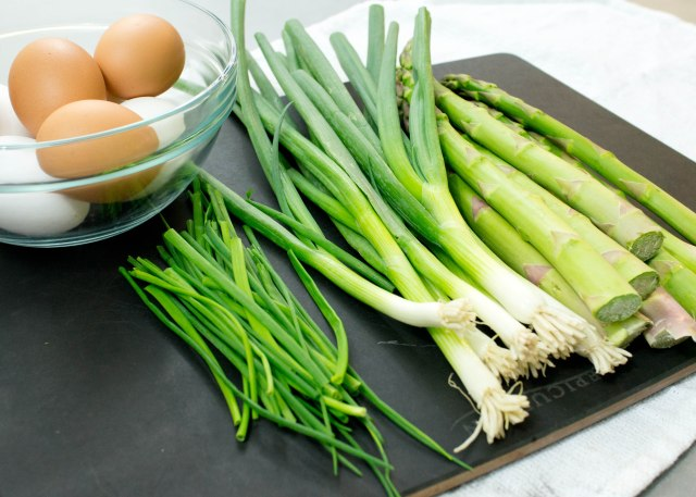 Chives,Spring Onions, Asparagus