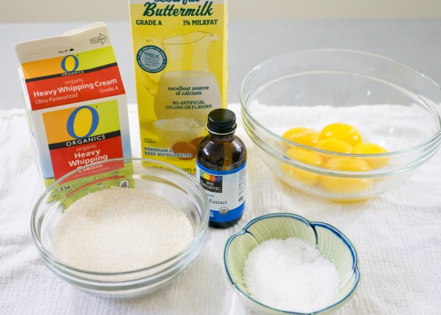 Buttermilk Ice Cream Ingredients