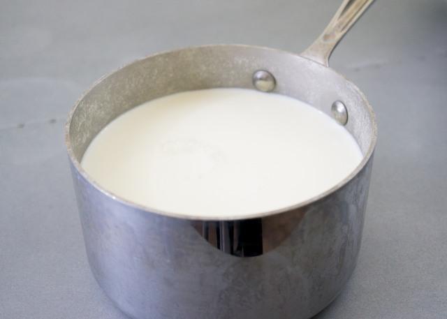 Simmer Cream, Milk and Salt