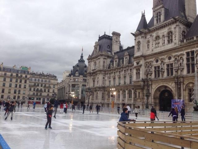 Skating at Hotel de Ville
