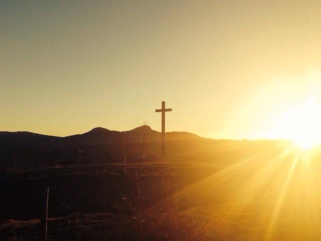 Yssingeaux hillside vista at sunset