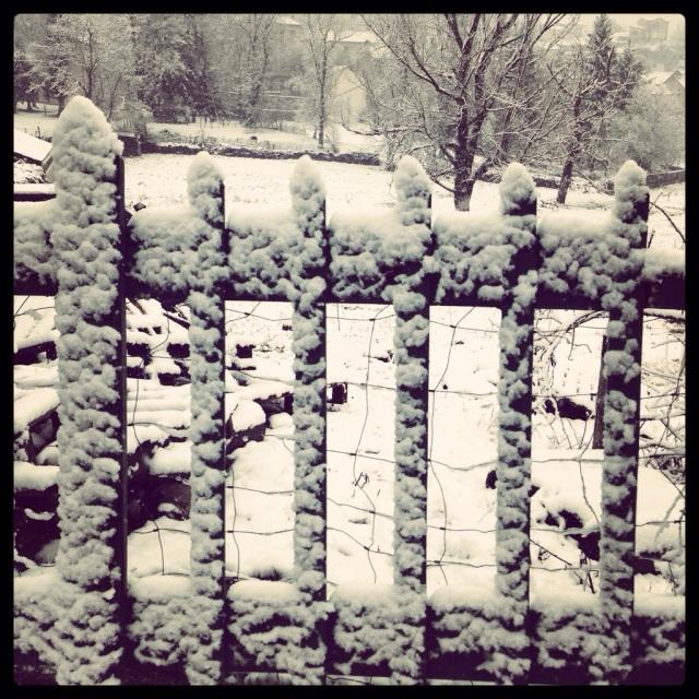 Snowfall on Yssingeaux