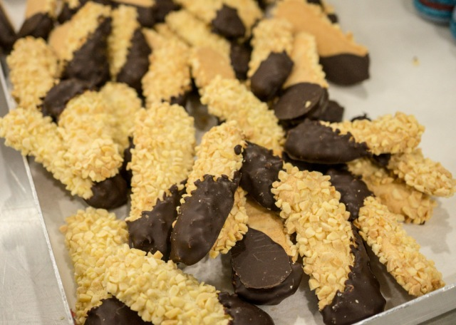 Chocolate dipped Batons Marechaux
